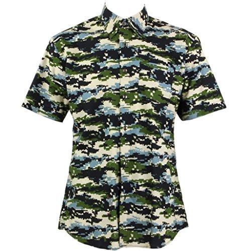 Loud Originals Regular Fit Hemd mit kurzen Ärmeln - VERPIXELTE Tarnung