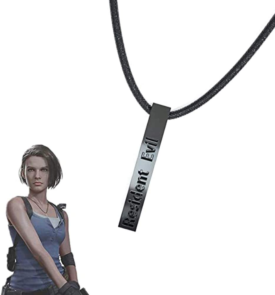 Coslive RE Jill Valentine Necklace Game Cosplay Costume Accessories Adult Women Zinc Alloy With Gift Box