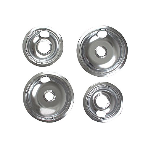 Hot New Whirlpool Stove Drip Pan Kit, Chrome, W10278125, New,