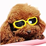 Pet Leso Doggles Sunglasses Waterproof Pet Sunglasses For Cat or Small Dogs - Yellow