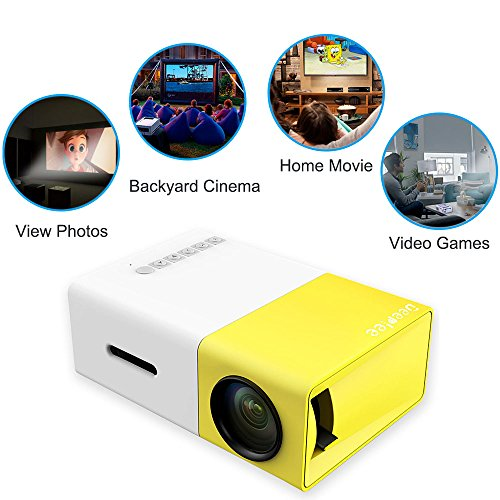 Deeplee mini projector dp300 portable led projector for Portable projector with usb input
