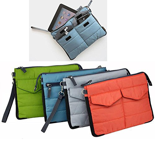 Travel Organiser Pouch Bag for Tablet or Computer with multiple compartments - for bag in bag, toiletries, makeup, tablets etc (Red) by Q4Travel (Image #2)