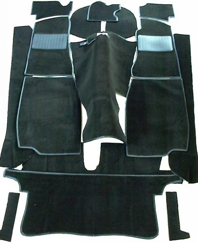 (MG MGB GT Complete Replacement Interior Carpet Kit High Quality -Black)