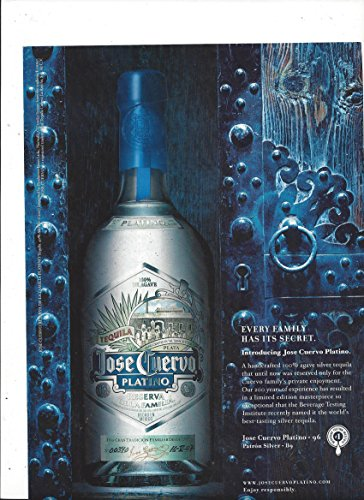 MAGAZINE AD For 2008 Jose Cuervo Platino Silver Tequila: Every Family Has It