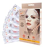Vitamin C Brightening Sheet Mask - Vitamin C Sheet Mask for Anti Aging - Dark Spot Mask with Collagen - Vitamin C Mask For Healthy Skin from Vivo Per Lei