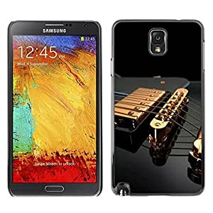 Impact Case Cover with Art Pattern Designs FOR Samsung Note 3 N9000 Music Gold Guitar Betty shop