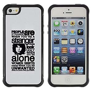 Be-Star único patrón Impacto Shock - Absorción y Anti-Arañazos Funda Carcasa Case Bumper Para Apple iPhone 5 / iPhone 5S ( Deep Message About People )