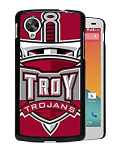 NCAA Troy Trojans Black Customize Google Nexus 5 Phone Cover Case