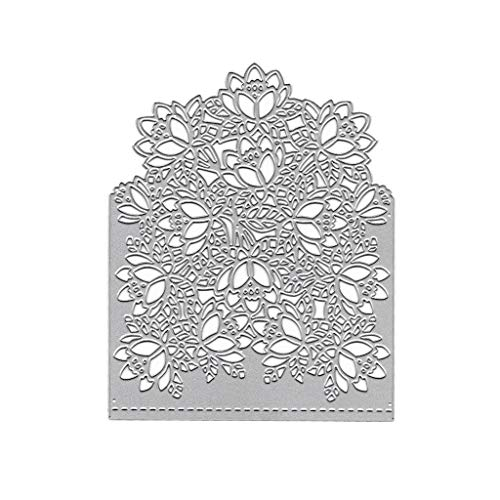 Duoyuanerst Envelope Flowers Metal Cutting Dies Stencil DIY Scrapbooking Album Stamp Paper Card Embossing Craft Decor