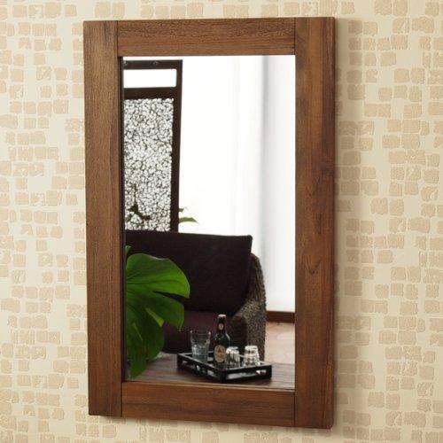 アジアン 壁掛けミラー 鏡 M067RKA アジアン家具モダン エスニック 木製 B007774910