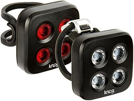 Taille Unique Black Knog Blinder Twinpack X Kit d/éclairages Avant//arri/ère Adulte Unisexe