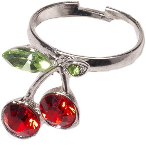 Forum Novelties Women's Retro Rock Novelty Cherry Ring, Multi, One Size -