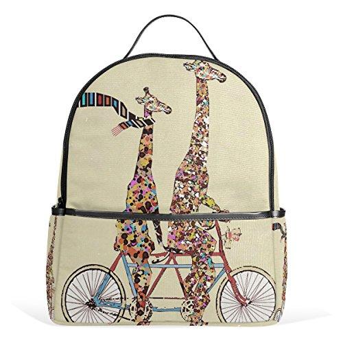 JSTEL Fashion Giraffe School Backpacks for Boys Girls Bookbag (Fashion Giraffe)