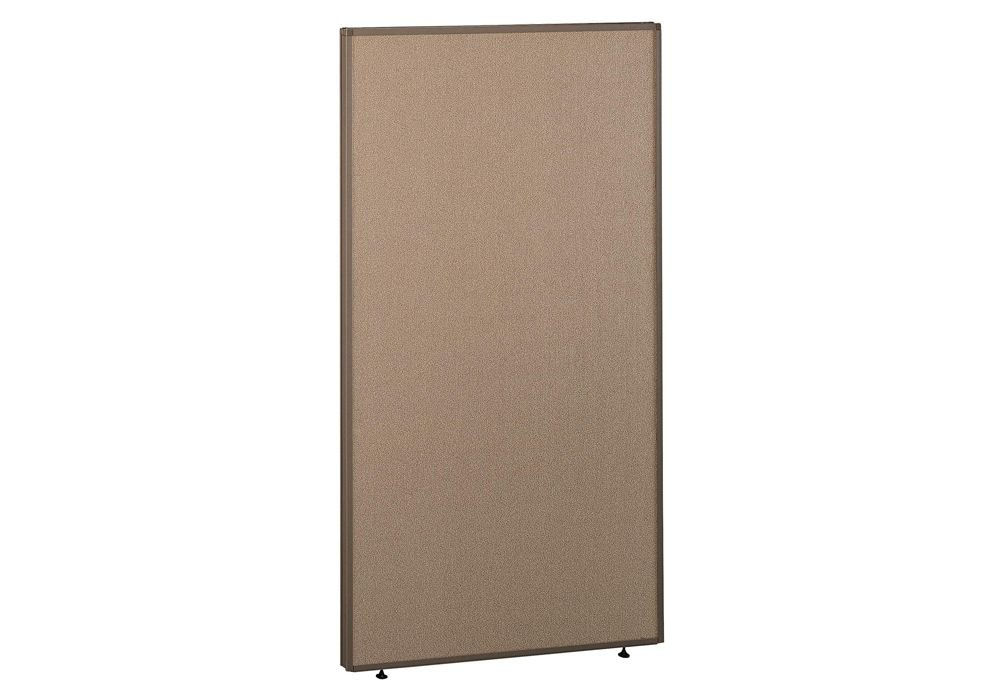 Panel 36W x 66H Dimensions: 36.125''W x 1.875''D x 66.875''H Weight: 41 lbs Harvest Tan Fabric/Taupe Frame