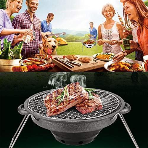 YWYW Barbecue, Barbecue Pliant Portable Foyer Extérieur, Antiadhésif Grill Grillade De Carbone, Pierre Maifan Plateau Cuisson