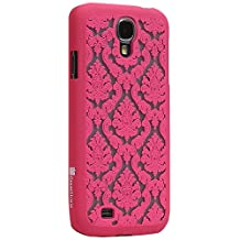 GreatShield(™) Samsung Galaxy S4 / S IV / GT-I9500 TACT Design Ultra Slim Fit [DAMASK Pattern] Protective Hard Rubber Coating Back Case Cover (Pink)