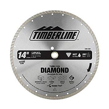 Timberline 640-280 Turbo Diamond 14 Inch Dia x 1 Inch Bore ...