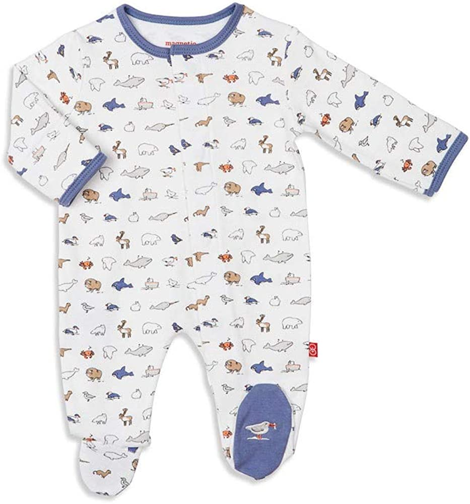 Magnetic Me by Magnificent Baby 100/% Organic Cotton Magnetic Footie