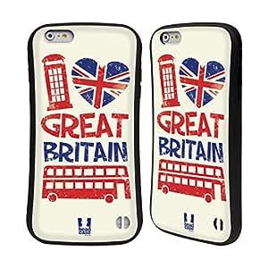 Head Case Designs Icons British Love Hybrid Gel Back Case for Apple iPhone 6 Plus 5.5