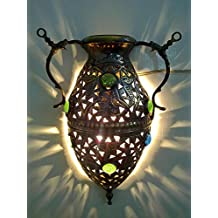 BR268 Antique Style Alibaba Jug Brass Sconce Wall Decor Lamp