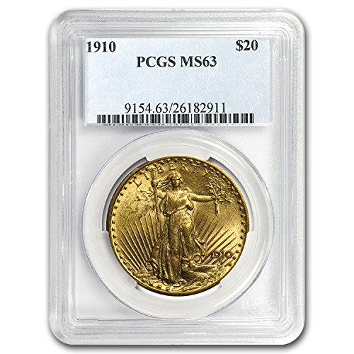 1910 $20 Saint-Gaudens Gold Double Eagle MS-63 PCGS G$20 MS-63 PCGS