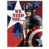 Captain America - Invitations Party Accessory