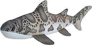 "Wild Republic Leopard Shark Plush, Stuffed Animal, Plush Toy, Gifts for Kids, Living Ocean, 12"""
