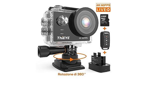 ThiEYE - Cámara de acción 4K (20 Mpx): Amazon.es: Electrónica
