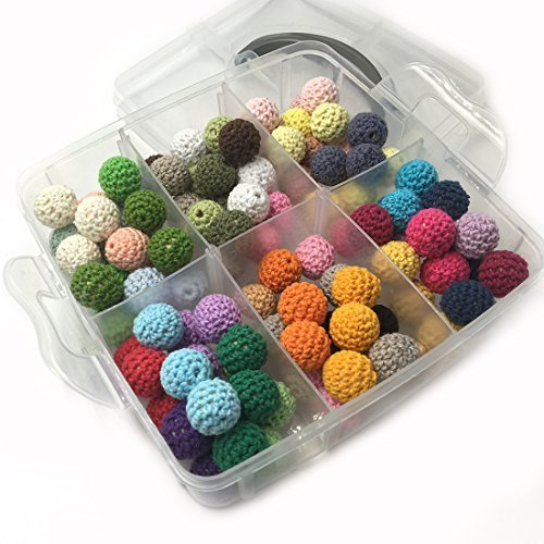大注目 Amyster DIY Baby Teether Toys DIY Accessories Kit 108pcs Toys 14mm(0.55inch) Necklace Mixed Colour Crochet Beads Blending Creative Freedom For Baby Teething Necklace Decoration (A130) [並行輸入品] B078WW9QWQ, 永井園:333b436e --- beyonddefeat.com