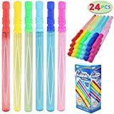JOYIN 24 Pack 14'' Big Bubble Wands Bulk (2 Dozen) for Summer Toy, Outdoor / Indoor Activity Use, Bubbles Party Favors Supplies for Kids