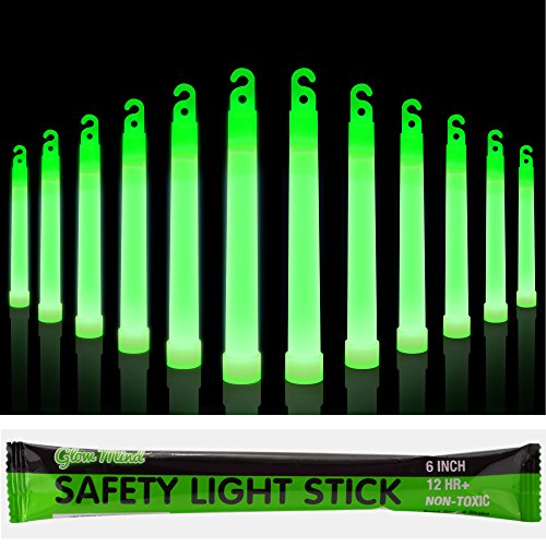 12 Industrial Grade Glow Sticks, 6