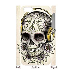 ALICASE Diy 3D Protection Hard Case Sugar Skull For Iphone 5C [Pattern-4]