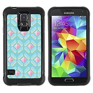 Suave TPU Caso Carcasa de Caucho Funda para Samsung Galaxy S5 SM-G900 / polygon cute pattern gem pink blue / STRONG