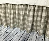 Buffalo check bed skirt, Country bed skirts, Plaid bed skirt, Drop from 13-24'' or custom size. HANDMADE, FREE SHIPPING