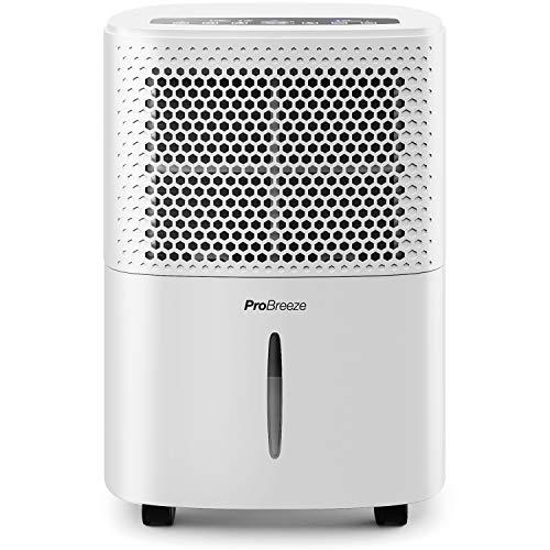 Pro Breeze 12L/Day Dehumidifier with Digital Humidity Display, Sleep Mode,...