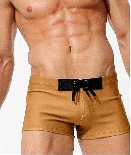ZQ@QXLes hommes européens et américains, Klein maillots pantalons de plage,M,Yellow