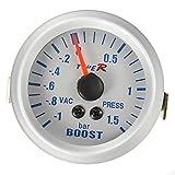 52mm LED Blue Light Car Meter Boost Turbo Gauge