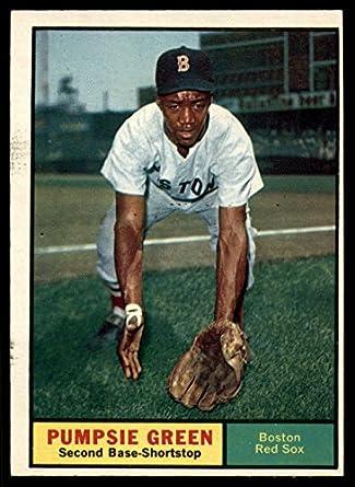 Amazon.com  1961 Topps  454 Pumpsie Green Excellent Red Sox ... 3dfc9a4e6ec