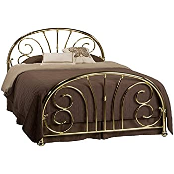 Hillsdale Furniture 1071BKR Jackson Bed Set With Rails, King, Classic Brass  Plate