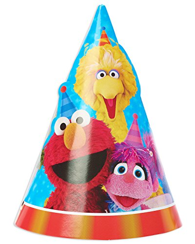 Elmo Hats (American Greetings Sesame Street Party Hats (8 Piece))