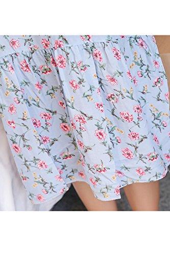Mujeres sin mangas vestido floral Slip diariamente camisones 9738