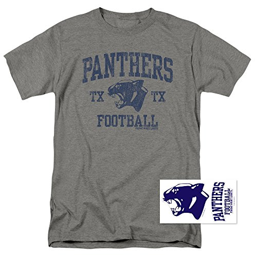 Friday Night Lights Panthers Football T Shirt (X-Large) Gray