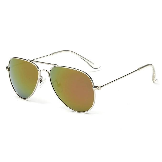 Polar Spiegel Kinder Bunte Sonnenbrille , gold & grün