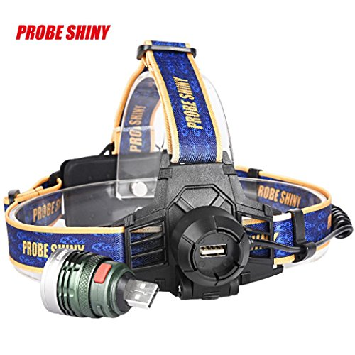 Headlamp Odeer 10000LM XM-L T6 Headlamp Headlight Head Light LED Rechargeable USB+Battery (Dimension : 66 x - Eyeglass Film Tint
