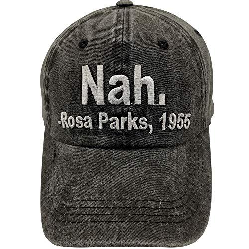 Waldeal Nah. - Rosa Park, 1955 Embroidered Baseball Cap Vintage Distressed Hat Black