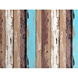 7Buy Self-Adhesive Wallpaper Rolls Trees Vinyl Kitchen Wall Paper Murals Barnwood Home Decoration 24'' X 393.7'' (#4)
