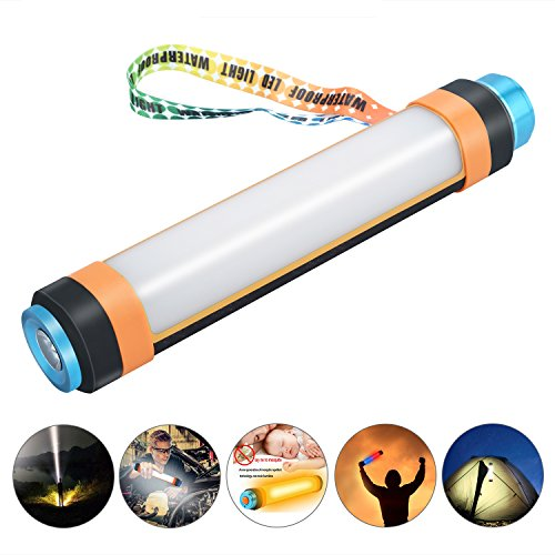 M6 Led Lithium Flashlight (Camping Lantern, USB Rechargeable LED Camp Lights Portable Magnetic Emergency Waterproof Rechargeable Multifunctional Power Bank Lamp Support Repellent Mosquito for Outdoor Hiking, 6 Modes)