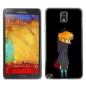 Planetar® ( Dark Night Boy Art Drawing Wandering Lonely ) Samsung Note 3 N9000 Fundas Cover Cubre Hard Case Cover