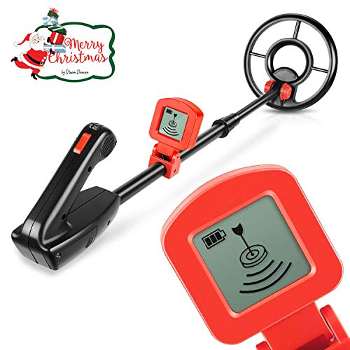 Viewee Lightweight Metal Detector with Waterproof Search Coil and LCD Display Suitable for kids and Beginners with Shovel as Family Leisure