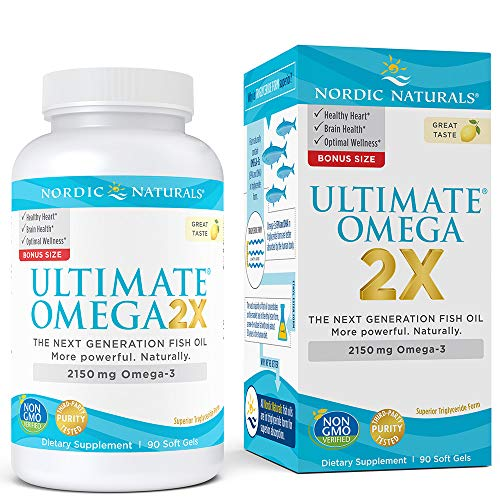 Nordic Naturals Ultimate Omega 2X - Extra Omega-3s Support Heart, Brain, and Immune Health 90 Soft Gels